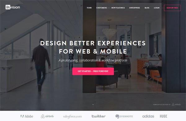 Tools Web Design Professional Invision