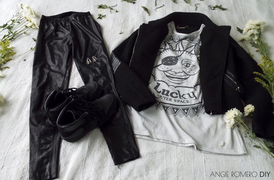 Cómo combinar el blanco y negro para un estilo metal o look rockero
