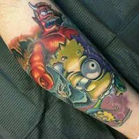 tatuaje los simpson especial de halloween