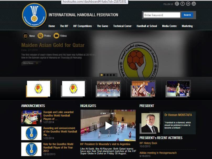 Nuevo sitio web de la IHF | Mundo Handball