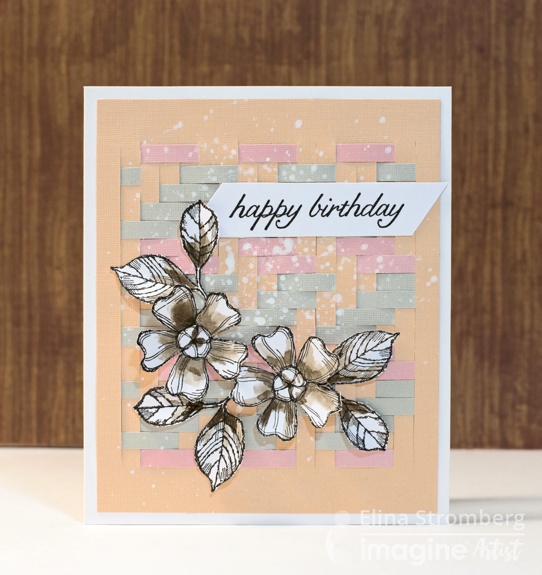 Elinas Arts And Crafts Paper Weaving On A Birthday Card