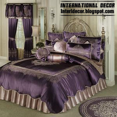 Stylish Purple bedding models, purple duvets designs
