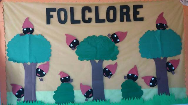 Painel Folclórico Sacizinhos na Floresta