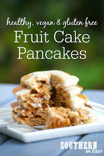 Healthy Christmas Fruit Cake Pancakes Recipe Single Serve