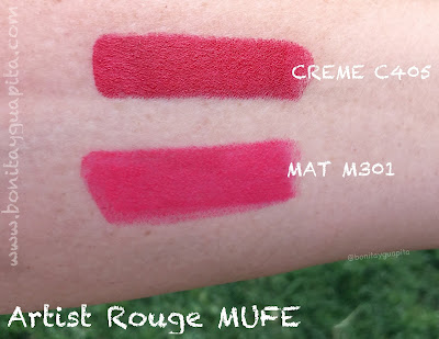 swatch Artist Rouge de Make Up For Ever