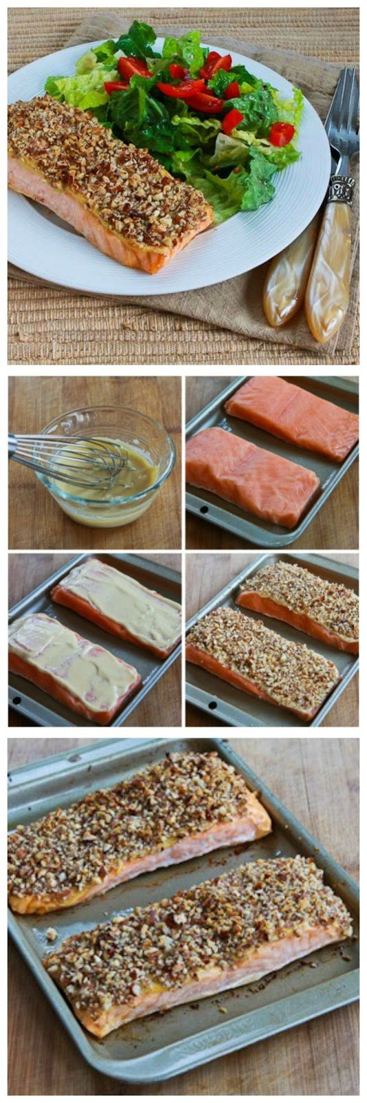 10 quick easy pecan crusted dijon salmon low carb gluten free
