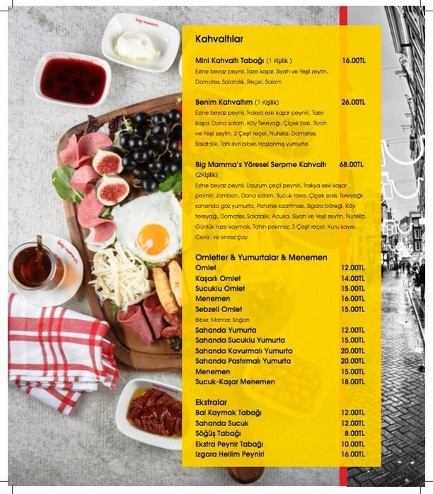 big mammas prive balat menu fiyat adres iletisim fatih istanbul