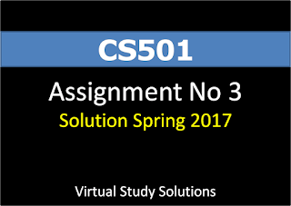 CS501 Assignment no 3 Spring 2017