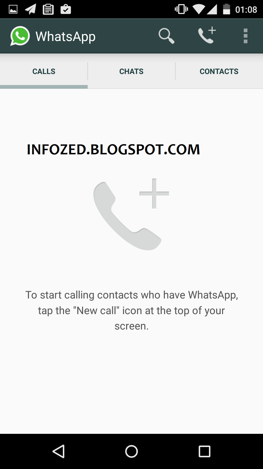 Phone Free Whatsapp For Android Phones whatsapp starting free voice calls in latest update infozed after introducing the features now will be line of other calling software like skype and viber for audi