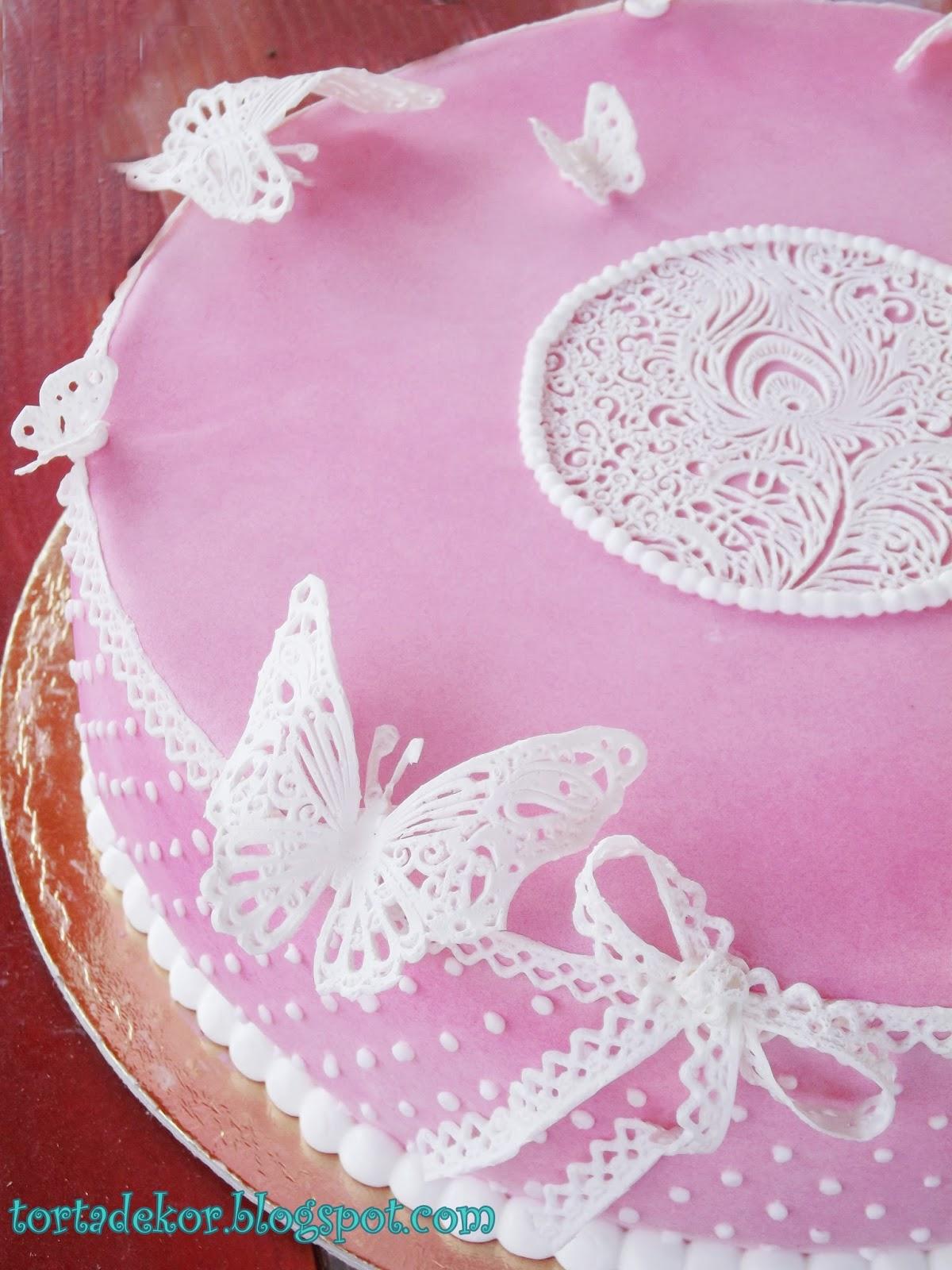 rózsaszín szülinapi torta Torták és más finomságok: Vintage stílusú szülinapi tortám rózsaszín szülinapi torta