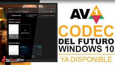 como descargar el nuevo codec av1