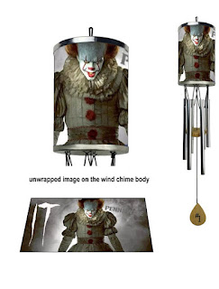 It Movie, Pennywise, Wind Chime, It Movie Pennywise Gifts and Merchandise, Stephen King Store