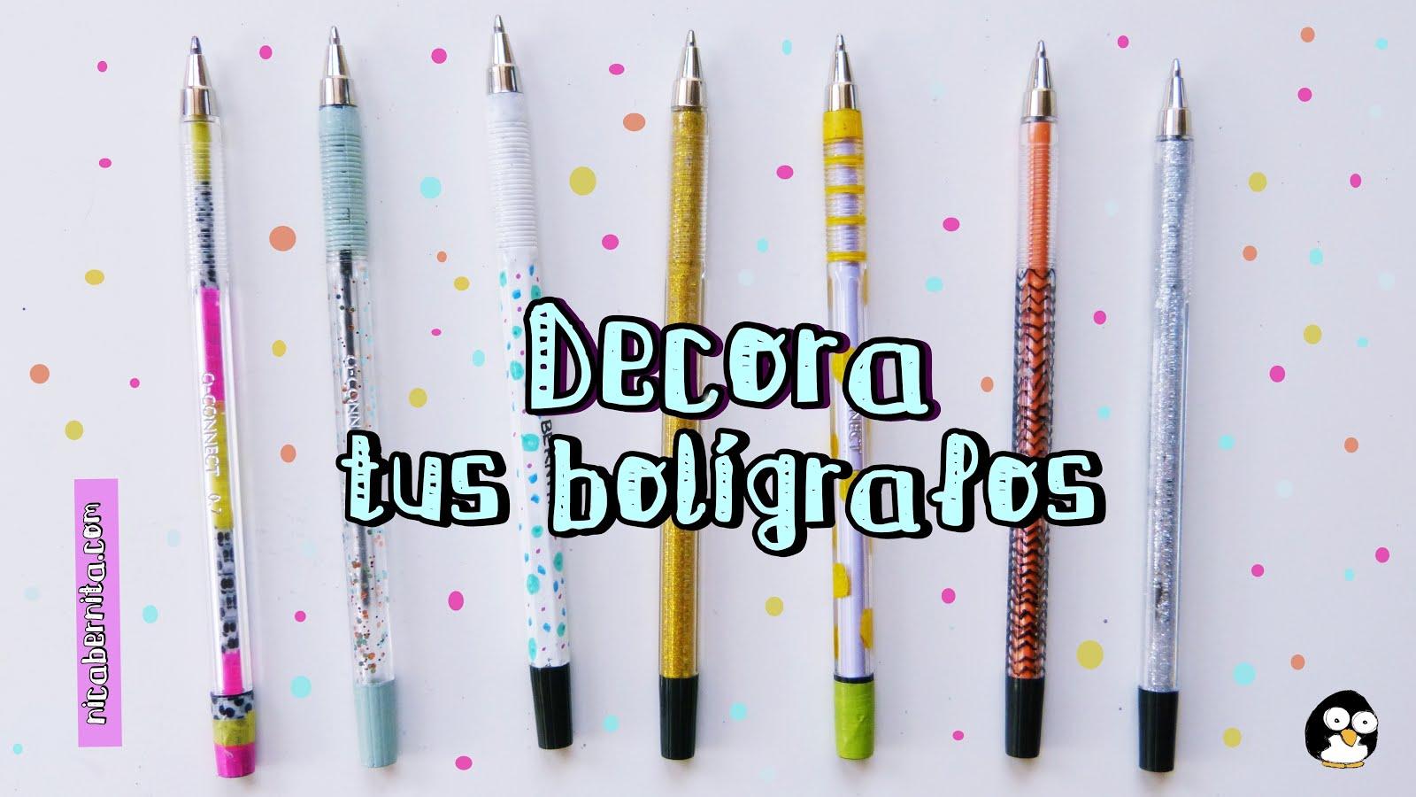 Más De 10 Ideas Para Decorar Lápices Y Bolígrafos
