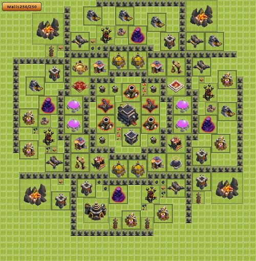 Clash of Clans Town Hall 9 Trophy Type
