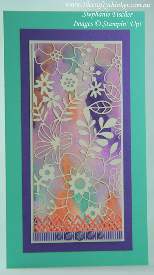 #thecraftythinker  #stampinup  #cardmaking , delightfully detailed laser cut paper, delicate lace dies, Stampin' Up Australia Demonstrator, Stephanie Fischer, Sydney NSW