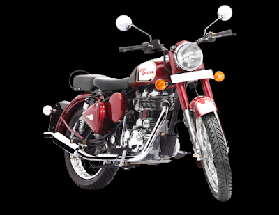 Royal Enfield Classic 350 front view Red