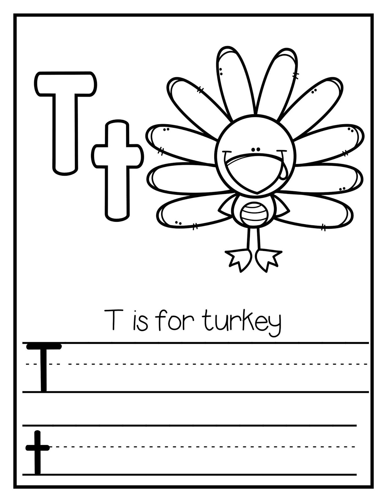 The Cozy Red Cottage Letter T Mini Books Free Printables