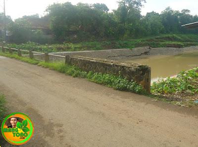 Belum 3 Bulan tanggul penahan longsor sungai Bendungan Macan, Subang amblas.