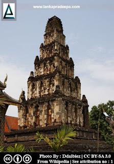 Wat Kukut in Lumphun in Thailand