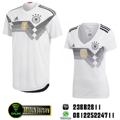 7bfff00ff Jual Jersey Couple Jerman Home 2018 Wolrd Cup   Piala Dunia. Jersey Couple Jerman  Home White World Cup 2018