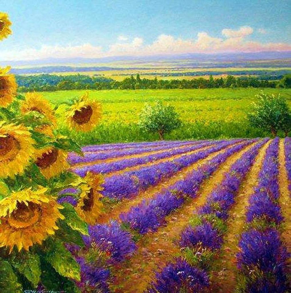 Cuadros modernos pinturas y dibujos paisajes modernos y - Cuadros espectaculares modernos ...