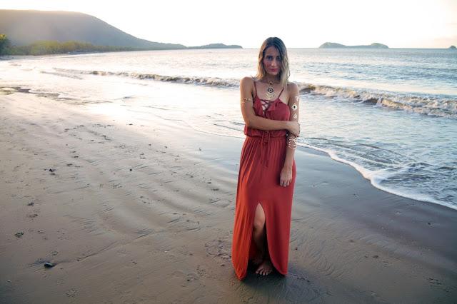 bohemian beach style lace up