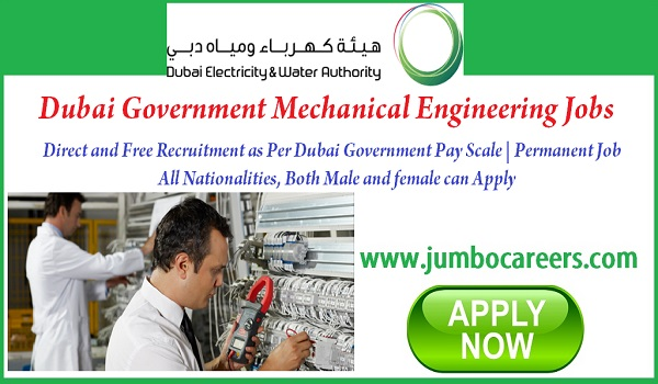 Dubai Government company seeking engineers and technicians, Show all new jobs in Dubai,