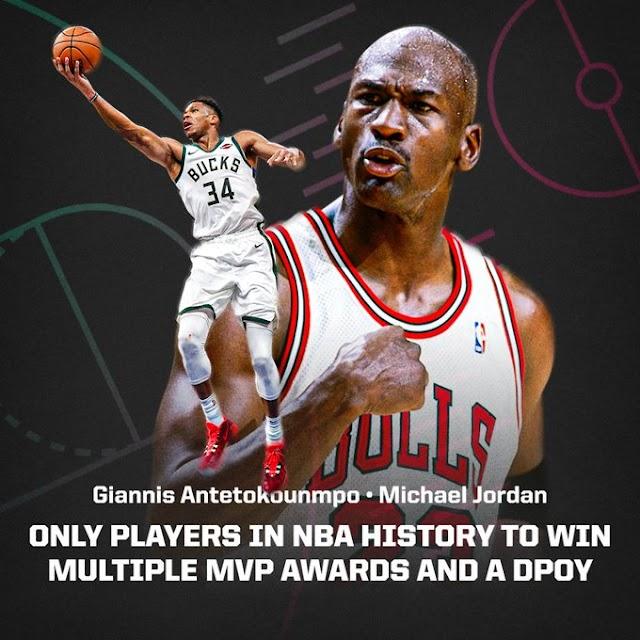 Giannis Antetokounmpo is the 2019-20 Kia NBA MVP!!