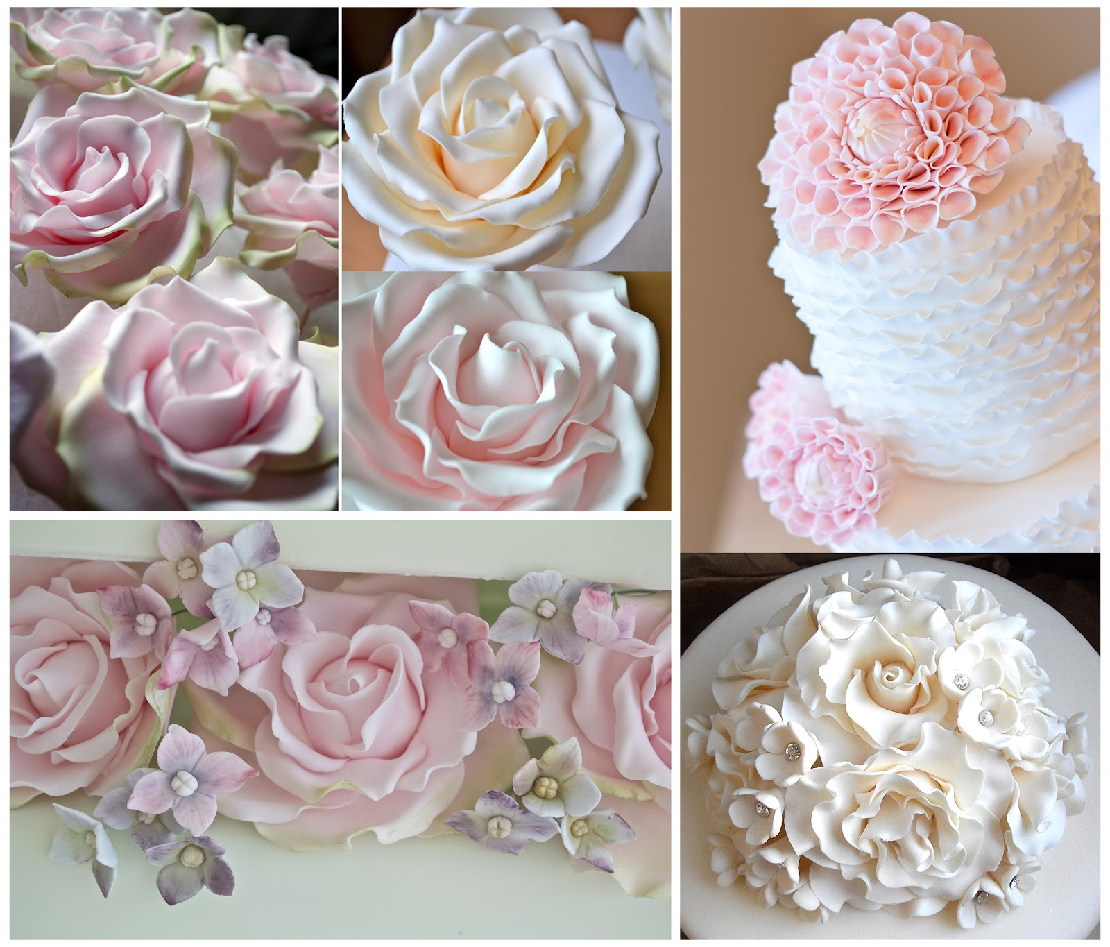45 Wedding Cakes With Sugar Flowers That Look Stunningly: Sugar Flowers