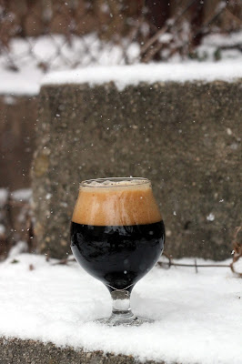 No better day than a snowy day for Imperial Stout!