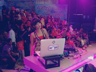 Foto Faradina Tika Sebagai DJ