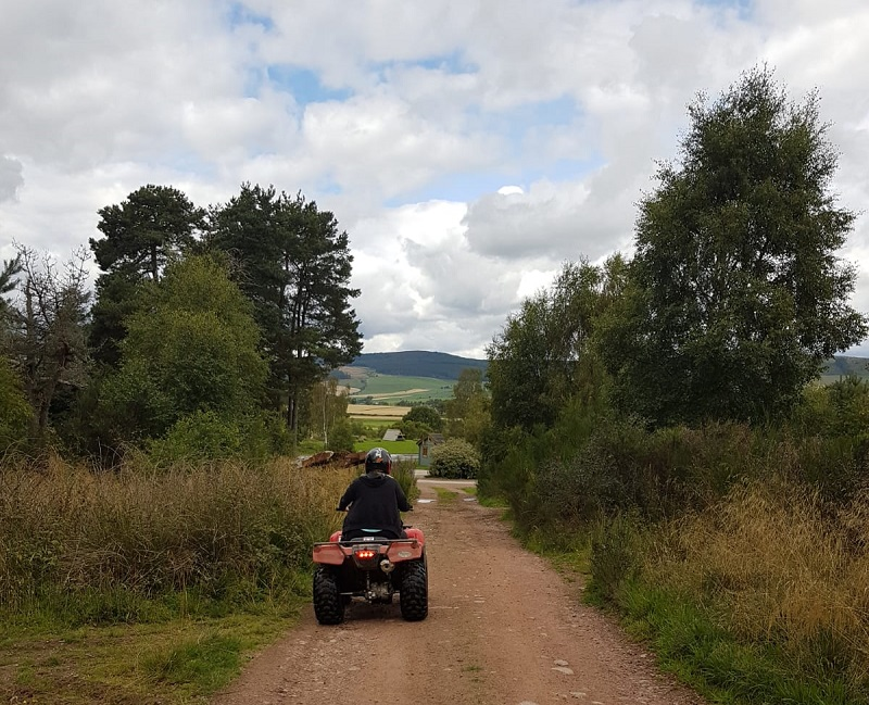 Quad bike trek at Deeside Activity Park