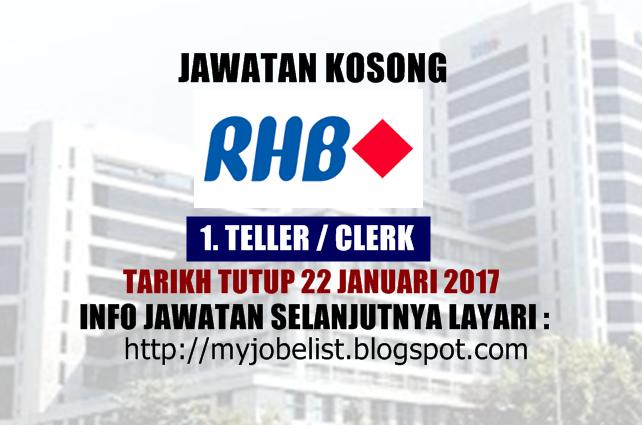 Jawatan Kosong RHB Banking Group Januari 2017