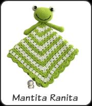Mantita de apego ranita a crochet