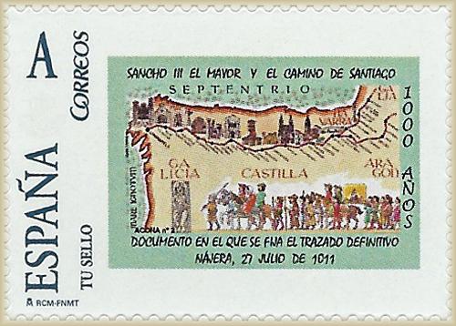 Sello personallizado mapa Camino de Santiago 1011