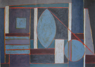 Cuadre abstracte, composició geomètrica acrílic damunt cartolina. ImaPerezAlbert