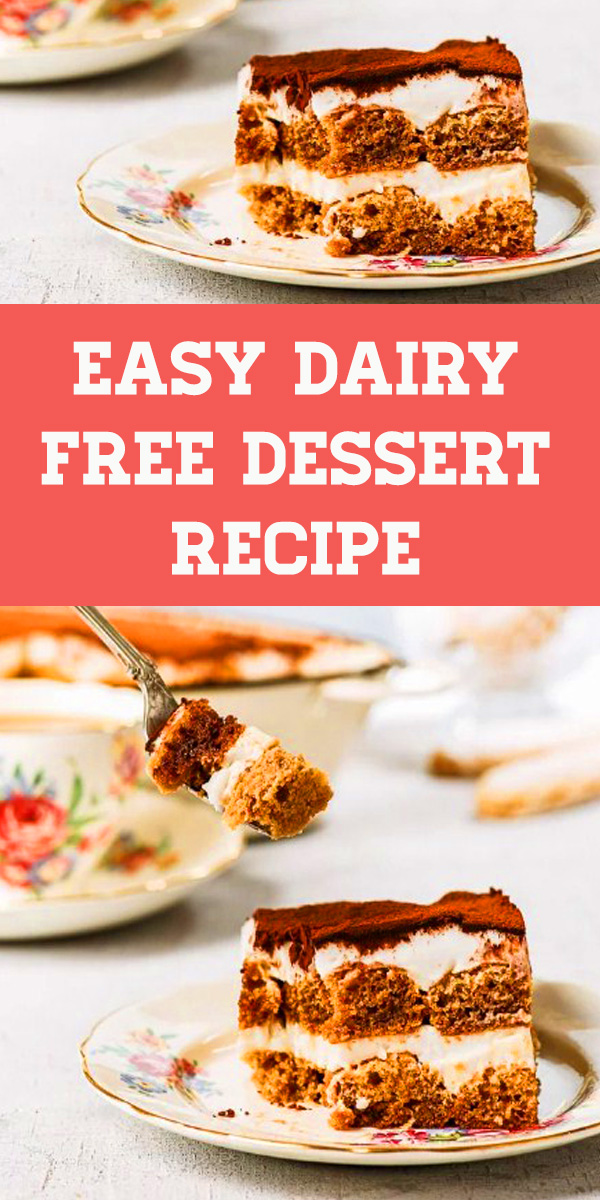 Dairy Free Dessert Recipe - Dairy & Gluten Free Tiramisu - This dairy and gluten free tiramisu will change your life. Gluten free dessert. Dairy free dessert. Healthy dessert. Healthy tiramisu. Dairy free tiramisu. Easy dessert recipes. #dessert #tiramisu #glutenfree #dairyfree #recipe
