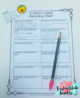 vocabulary development ideas for character traits