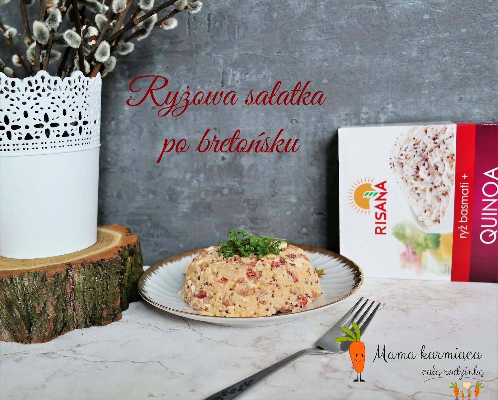 Ryżowa sałatka po bretońsku