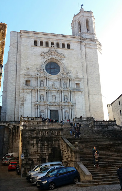 Catedral de Girona e sua escadaria - cenário de Game of Thrones