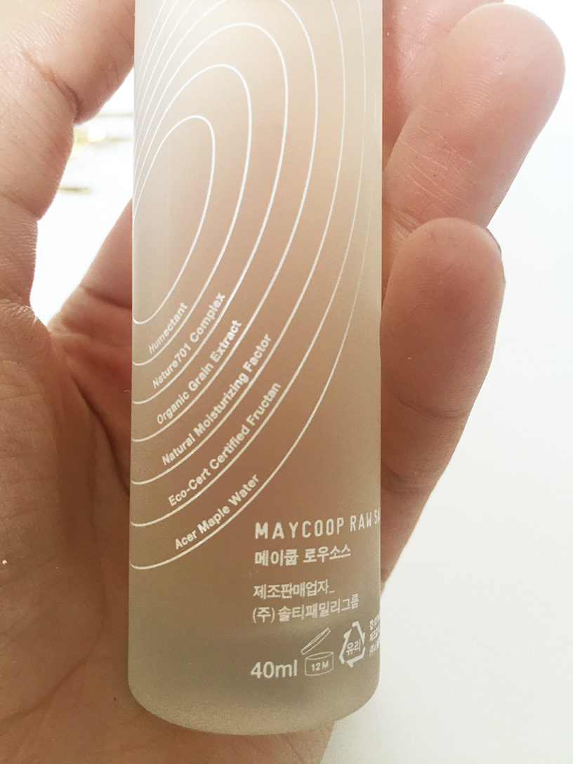 Elizabeth l Korean Beauty review: May Coop Raw Sauce l THEDEETSONE l http://thedeetsone.blogspot.fr