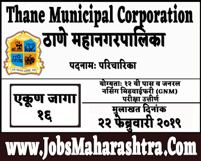 Thane Municipal Corporation Recruitment 2019