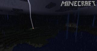 cara membuat petir di minecraft PC