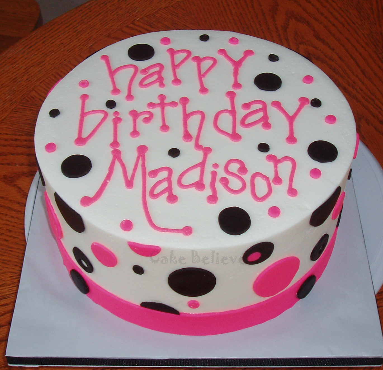 Cake Believe Pink Polka Dots