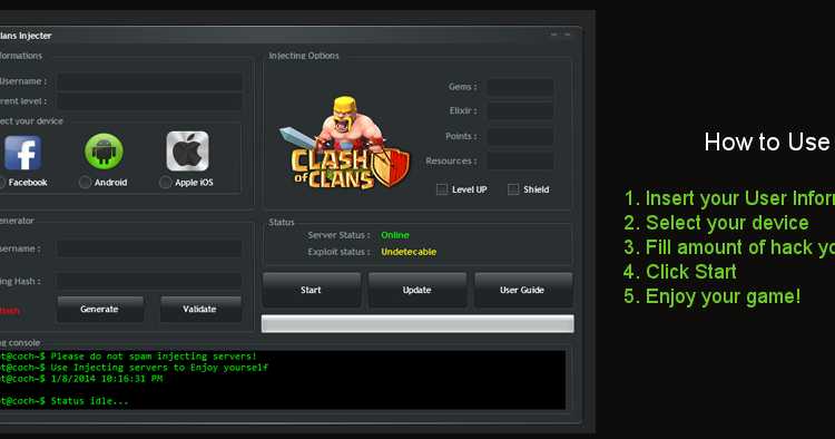clash of clans hack gems generator free download - The