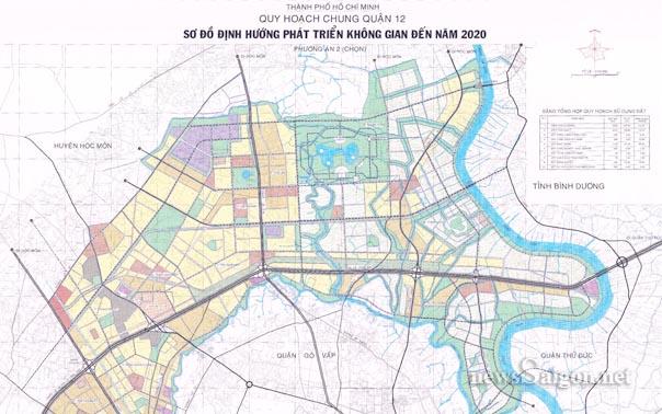 Quy hoạch chi tiết KDC phường Thạnh Lộc  quận 12