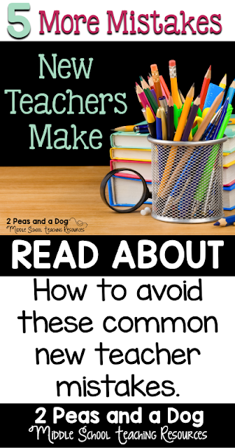 In this informative blog post about 5 More Mistakes New Teachers Make, new teachers are provided with five essential tips for being successful in their first year. Experienced teachers read this post to see how you can best support the new teachers in your schools from the 2 Peas and a Dog blog.