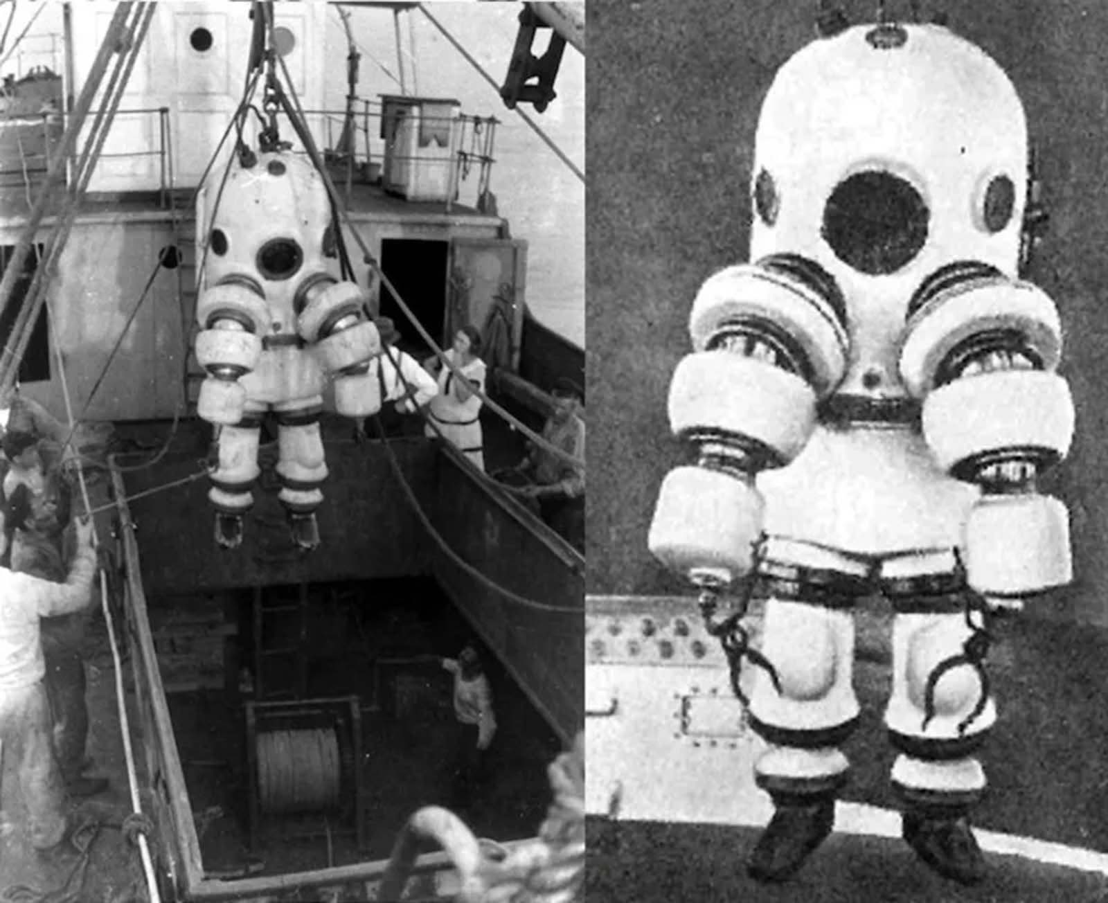 Neufeldt-Kuhnke diving suit. 1917-1922.