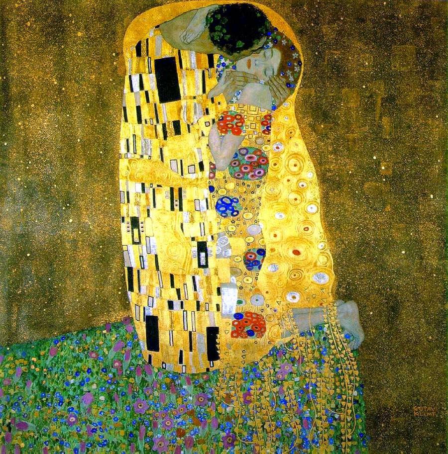 O Beijo - Gustav Klimt e suas pinturas ~ Pintor simbolista austríaco