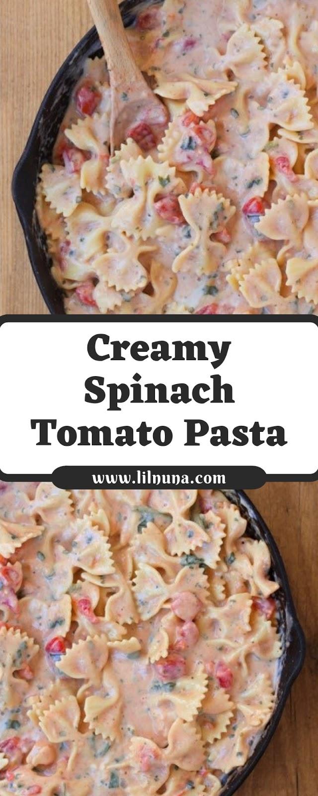 Creamy Spinach Tomato Pasta